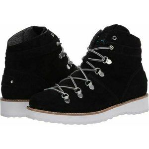 NEW ROXY Black Spencir Suede Boots Lace Up Combat